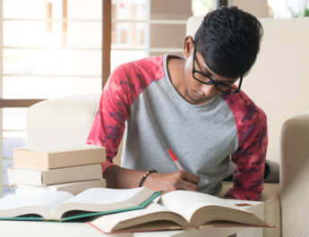 indian college student studying for JEE Main